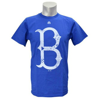MLB Dodgers T Shirt Blue majestic /Majestic (Cooperstown Rooted In Nostalgia T-Shirt)