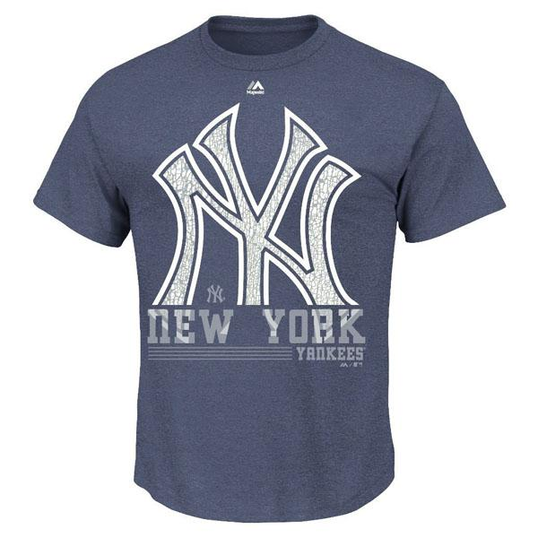 MLB Yankees T Shirt Navy majestic /Majestic (6th Inning T-Shirt)