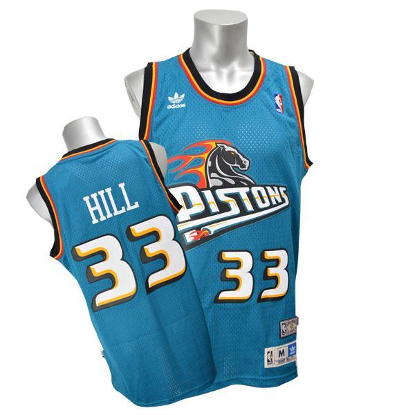NBA ピストンズ グラント・ヒル ユニフォーム ロード アディダス Soul Swingman ユニフォーム