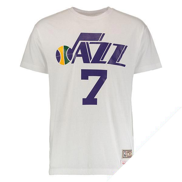お取り寄せ NBA ジャズ ピート・マラビッチ ネーム & ナンバー Tシャツ Mitchell & Ness
