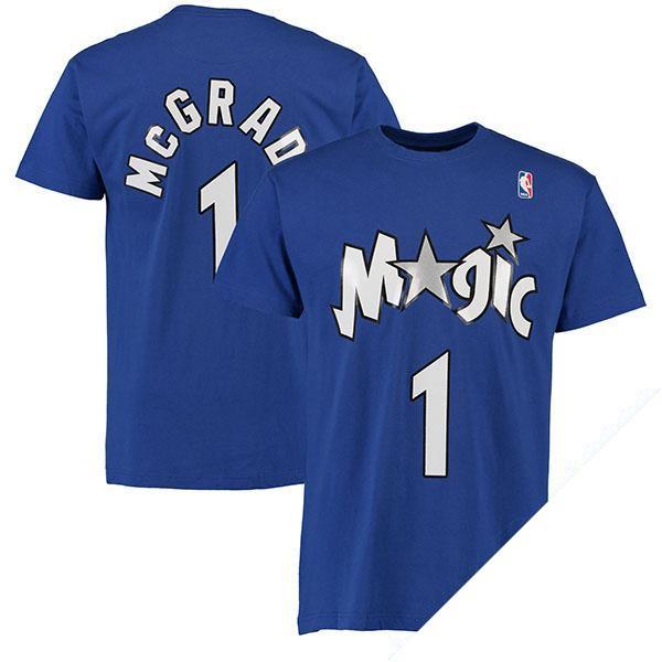 お取り寄せ NBA マジック トレイシー・マグレディ ネーム & ナンバー Tシャツ Mitchell & Ness