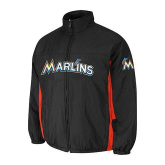 MLB Miami Marlins Authentic Double Climate On-Field jacket (black) Majestic