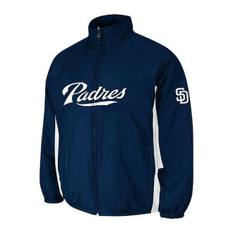Majestic MLB San Diego Padres Authentic Double Climate On-Field jacket (Navy)
