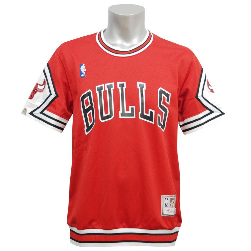 NBA ブルズ オーセンティック シューティング シャツ ミッチェル&ネス/Mitchell & Ness