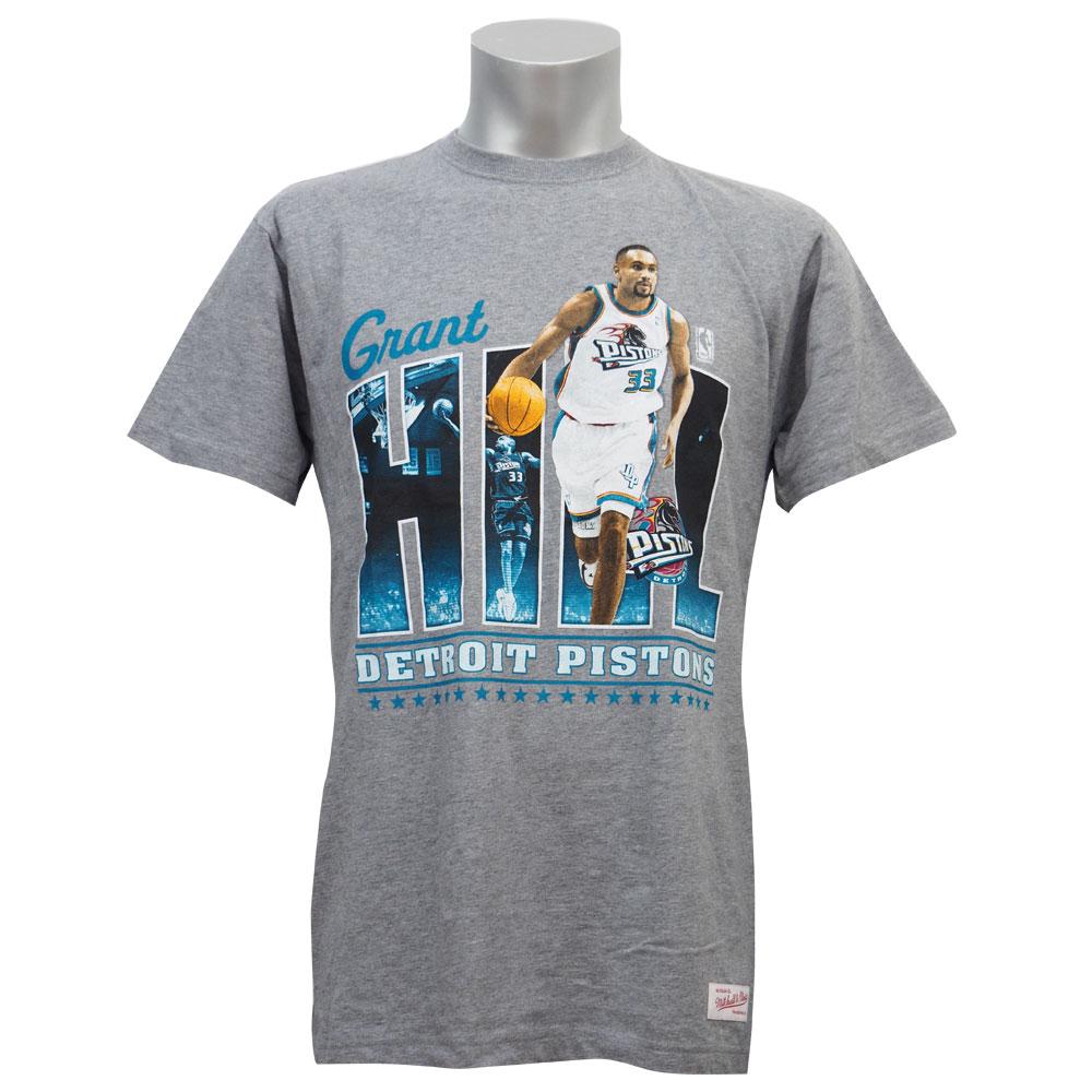 NBA ピストンズ グラント・ヒル プレイヤー II トラディショナル Tシャツ ミッチェル&ネス/Mitchell & Ness【MNセール】