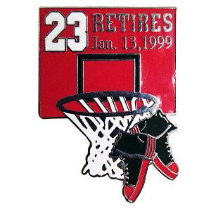 NBA ブルズ マイケル・ジョーダン 引退 記念 ピンバッジ リタイアズ Jan.131999 Upper Deck(アッパーデック) レアアイテム