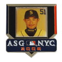 MLB マリナーズ イチロー 2008 オールスターゲーム N.Y.C. フォト ピンバッジ アミンコ/Aminco レアアイテム