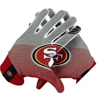 訂購的NFL 49ers運動場手套/手套耐吉/Nike