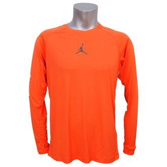 耐克喬丹 /Nike 約旦 DRI-適合所有季節都裝長上衣草坪橙色