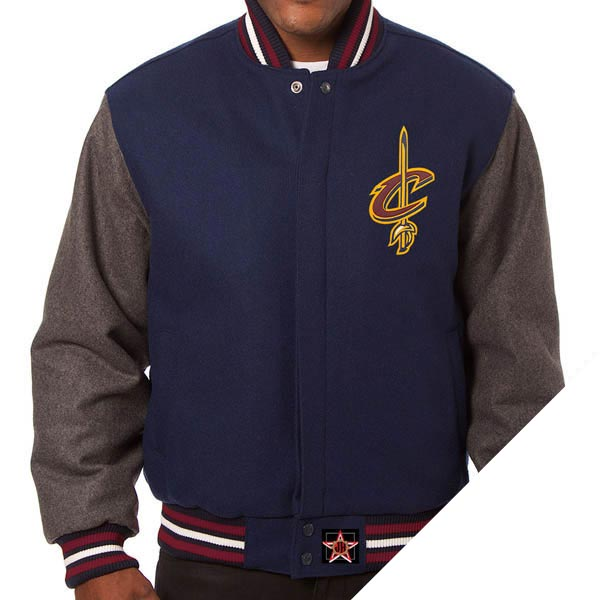 お取り寄せ NBA キャバリアーズ ドメスティック ツートン ウール ジャケット JH Design ネイビー:MLB.NBAグッズショップ SELECTION