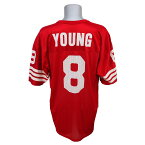 NFL 49ers スティーブ・ヤング レプリカユニフォーム Champion/チャンピオン レッド レアアイテム