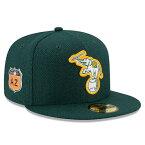 お取り寄せ MLB アスレチックス 2017 スプリングトレーニング ダイアモンド エラ 59FIFTY キャップ/帽子 ニューエラ/New Era グリーン