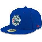 お取り寄せ NBA 76ers オフィシャル チームカラー 59FIFTY キャップ/帽子 ニューエラ/New Era ロイヤル