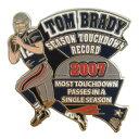 NFL ペイトリオッツ トム・ブレイディ シーズン タッチダウン レコード 記念 ピンバッジ レアアイテム