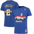 お取り寄せ NBA ナゲッツ アレックス・イングリッシュ ハードウッドクラシック レトロ ネーム & ナンバー Tシャツ Mitchell & Ness ロイヤル