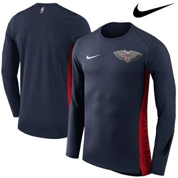 NBA Nike/ナイキ ペリカンズ エリート シューター パフォーマンス ロングスリーブ Tシャツ ネイビー