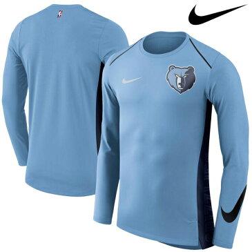 NBA Nike/ナイキ グリズリーズ エリート シューター パフォーマンス ロングスリーブ Tシャツ ブルー