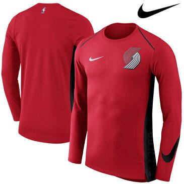 NBA Nike/ナイキ トレイルブレイザーズ エリート シューター パフォーマンス ロングスリーブ Tシャツ レッド