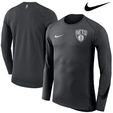 NBA Nike/ナイキ ネッツ エリート シューター パフォーマンス ロングスリーブ Tシャツ グレー