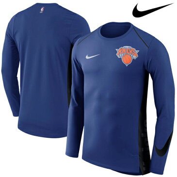 NBA Nike/ナイキ ニックス エリート シューター パフォーマンス ロングスリーブ Tシャツ ブルー