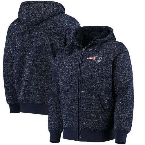 お取り寄せ NFL ペイトリオッツ ディスカバリー シェルパ フルジップ ジャケット G-III ネイビー