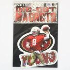 NFL 49ers スティーブ・ヤング 1996 ダイカット マグネット レアアイテム