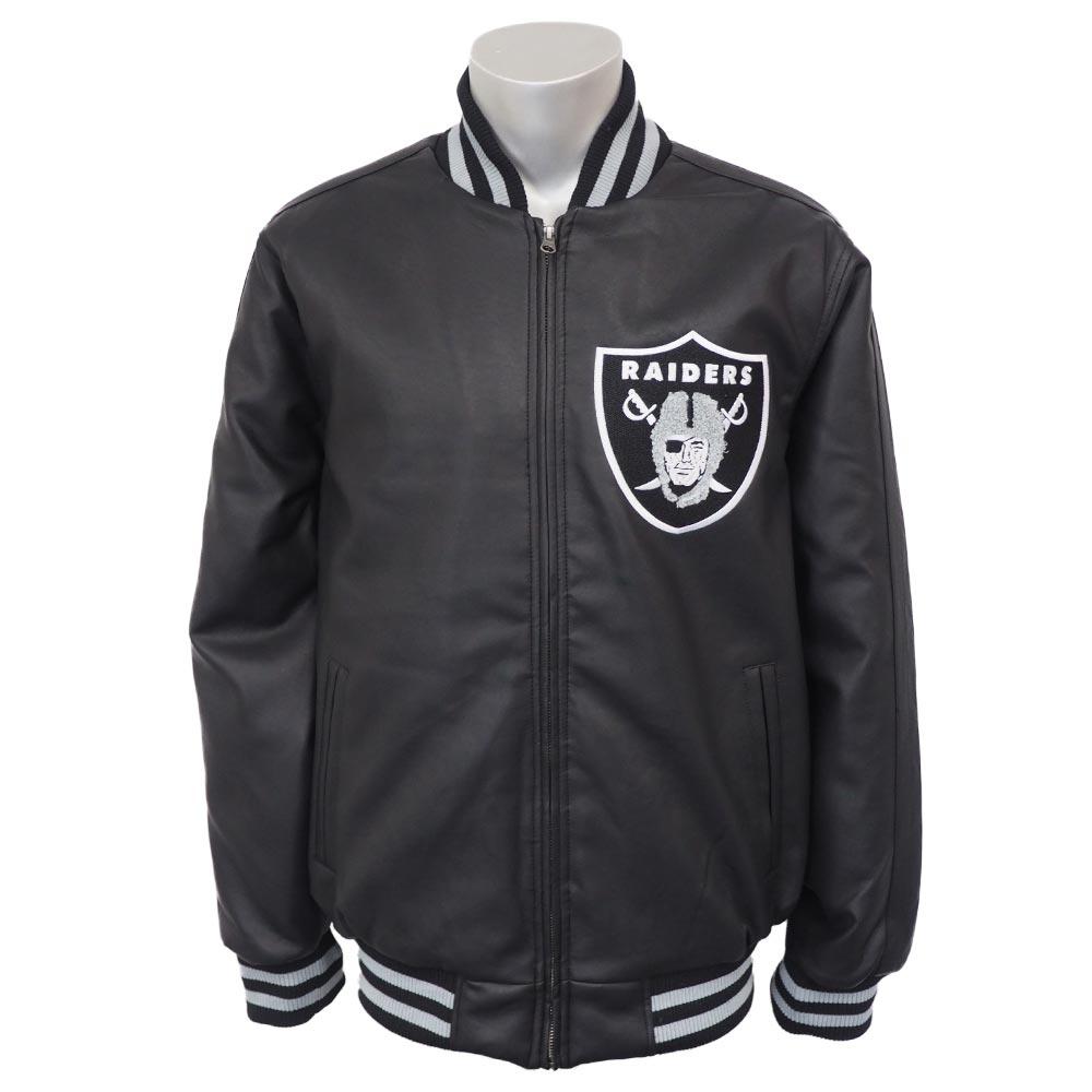 NFL レイダース スティフ アーム バーシティ ジャケット ジースリー/G-III【プレゼント】