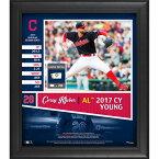 お取り寄せ MLB インディアンス コーリー・クルーバー 2017 ア・リーグ サイヤング賞記念 コラージュ 試合使用球の一部付き