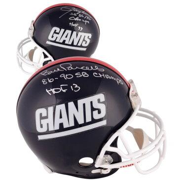 お取り寄せ NFL ジャイアンツ ローレンス・テイラー/ビル・パーセルズ 直筆サイン入り オーセンティック ヘルメット リデル/Riddell