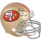 お取り寄せ NFL 49ers スティーブ・ヤング 直筆サイン入り オーセンティック ヘルメット 2005 殿堂入り記念 リデル/Riddell