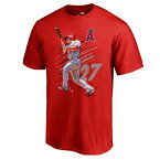 お取り寄せ MLB エンゼルス マイク・トラウト フェード アウェイ Tシャツ レッド
