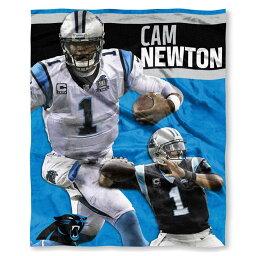 NFL パンサーズ キャム・ニュートン プレイヤーズ HD シルクタッチ スロー ブランケット/毛布 ノースウェスト/Northwest