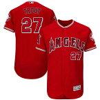 お取り寄せ MLB エンゼルス マイク・トラウト ユニフォーム/ユニホーム 選手着用モデル マジェスティック/Majestic オルタネート