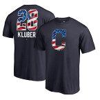 お取り寄せ MLB インディアンス コーリー・クルーバー Tシャツ 半袖 2018 スターズ & ストライプス ネーム & ナンバー ネイビー