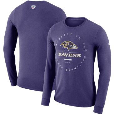 お取り寄せ NFL レイブンズ サイドライン パフォーマンス ロングTシャツ ナイキ/Nike パープル