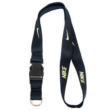 ランヤード ネックストラップ ナイキ/Nike ブラック/ボルト NS2005-023