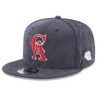 お取り寄せ MLB エンゼルス キャップ/帽子 コーデュロイ オールドロゴ ニューエラ/New Era - MLB オールドロゴMLB コーデュロイ スナップバック再入荷!