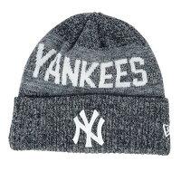 【取寄】お取り寄せ MLB ヤンキース ニットキャップ/ニット帽 クリスプカラー メランジ カフ ニューエラ/New Era ネイビー - お取寄!冬にピッタリMLB霜降りカラーニットキャップ!