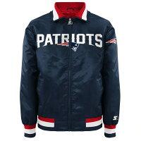 NFL ペイトリオッツ ジャケット/アウター サテン キャプテン II メンズ スターター/Starter ネイビー - 人気のSTARTER製ジャケットが再入荷!