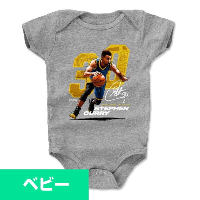 NBA ウォリアーズ ステファン・カリー Tシャツ ベビー/赤ちゃん ロンパース プレーヤー アート 500Level【1910価格変更】