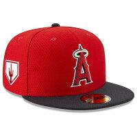 MLB エンゼルス キャップ/帽子 2019 春季キャンプ オンフィールド プロライト バッティングプラクティス ニューエラ/New Era ゲーム - スプリング・トレーニングで着用!MLBオンフィールドキャップ2019