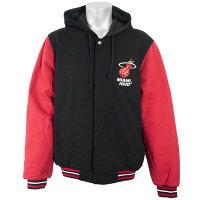 NBA ヒート ジャケット/アウター リバーシブル フリース&フェイクレザー メンズ JH Design ブラック - まだまだアウターも大活躍!マイアミ・ヒートアパレル新入荷!!