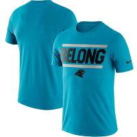 【取寄】お取り寄せ NFL パンサーズ Tシャツ ローカル ロックアップ パフォーマンス ナイキ/Nike ブルー - NFLチームスローガンTEE取寄スタート!