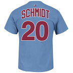 MLB フィリーズ マイク・シュミット Tシャツ ネーム&ナンバー マジェスティック/Majestic