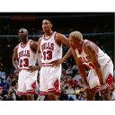 スコッティ・ピッペン マイケル・ジョーダン デニス・ロッドマン ブルズ NBA フォト Photo File