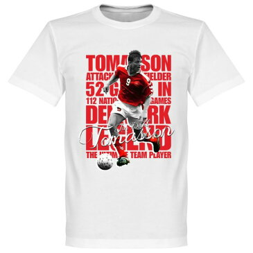 デンマーク代表 ヨン・ダール・トマソン Tシャツ SOCCER レジェンド サッカー/フットボール ホワイト【1910価格変更】
