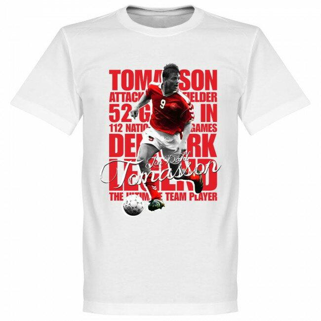 デンマーク代表 ヨン・ダール・トマソン Tシャツ SOCCER レジェンド サッカー/フットボール ホワイト
