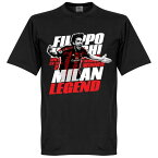 ACミラン フィリッポ・インザーギ Tシャツ SOCCER レジェンド サッカー/フットボール ブラック