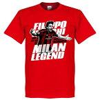 ACミラン フィリッポ・インザーギ Tシャツ SOCCER レジェンド サッカー/フットボール レッド