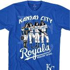 MLB カンザスシティ・ロイヤルズ Tシャツ KISS コラボ ドレス トゥ キル ブルー【lb1910変更】【1112】